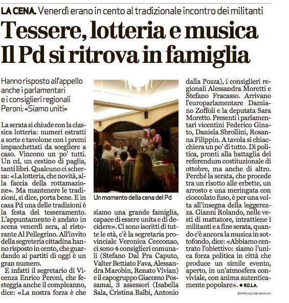 20160612 Giornale di Vicenza